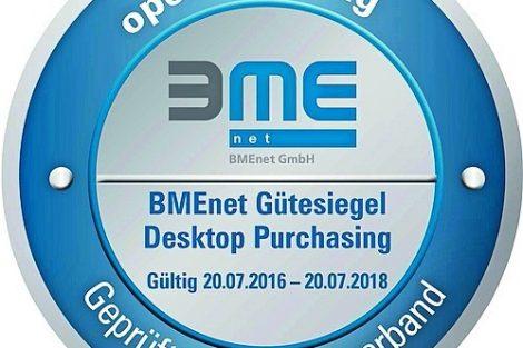 """BME zeichnet Veenion GmbH mit Gütesiegel """"Desktop Purchasing"""" aus"""