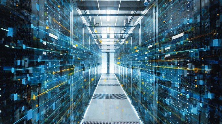 Shot_of_Corridor_in_Working_Data_Center_Full_of_Rack_Servers_and_Supercomputers_with_Internet_connection_Visualization_Projection.