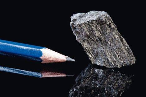 Rough_piece_of_carbon_rock_mineral_in_the_form_of_graphite,_an_allotrope_of_carbon,_known_for_its_use_in_pencils_