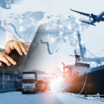 The_world_logistics__background_or_transportation_Industry_or_shipping_business,_Container_Cargo__shipment_,_truck_delivery,_airplane_,_import_export_Concept